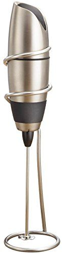 BonJour Frother, Automatic Battery Powered Cafe Latte w/ Stand, Chrome/Black ** You can find more details by visiting the image link.