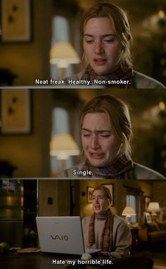 Haha. One of my favorite holiday movies. Kate Winslet is priceless.