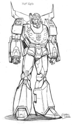 Optimus Prime Awesome Sketch 3 Transformers Art