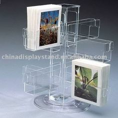 Rotating acrylic greeting card holder (S1005825), View acrylic brochure holder, vanjin Product Details from Shenzhen Vanjin Craftwork Co., L...