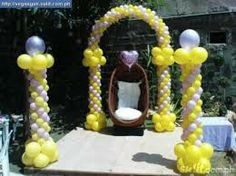 Balloon decoration debut ideas pinterest more debut for Balloon decoration for birthday party philippines