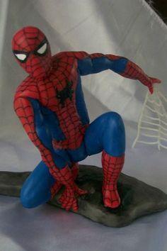 Hombre Araña En Porcelana Fria! Tortas Souvenir, Decoracion - $ 50,00
