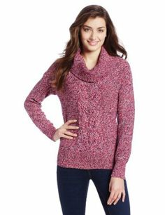 Jones New York Women's Long Sleeve Boat Neck Pullover with Cable