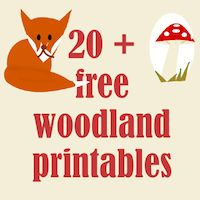 ☞ 20+ free woodland printables - Waldtiere Druckvorlagen - links | MeinLilaPark – DIY printables and downloads