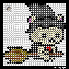 rilakkuma Halloween Pearler Bead Patterns, Perler Patterns, Pearler Beads, Halloween Beads, Halloween Patterns, Sanrio, Kawaii Diy, Cross Stitch For Kids, Halloween Cross Stitches
