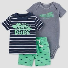 Baby Boys' 3pc Sharp Dude Set - Just One You™ Made by Carter's® Navy