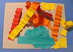 Construction Paper Strip Sculpture