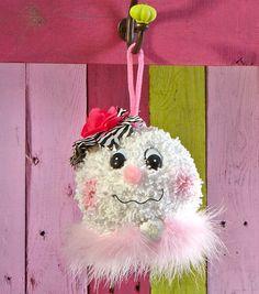 Super cute snowlady ornament! #fabulouslyfestive