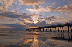 Jacksonville Beach Florida Pier...Be still my heart.....Luv Jax Beach!