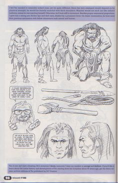 Scan from Wizard Magazine 143. Basic Training: Part 2 of 6 Joe Kubert shows how to draw from reference. p98
