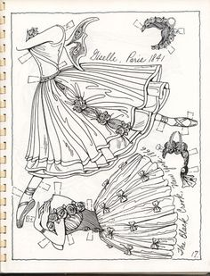 BALLET 19th Century Costumes Book 2 Paper Dolls by Charles Ventura <> 16 of 20