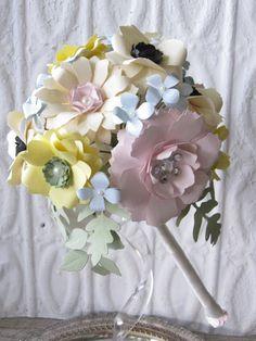 Pastel Paper Flower Bouquet by carrieklein on Etsy