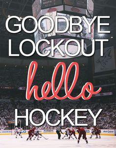 Old but good. Goodbye lockout. Hello hockey!