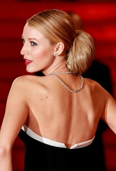 Back view and close-up of Blake Lively's Gucci Premiere gown and Lorraine Schwartz diamonds at 'The Captive' premiere at the Cannes Film Festival, May 16, 2014.