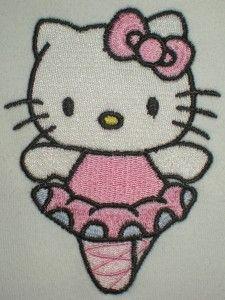 Hello Kitty ballerina machine embroidery deigns