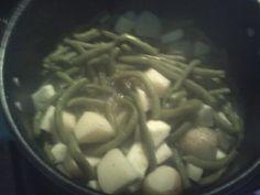 Garden greenbean,onions,zucchinie saltnpepper.