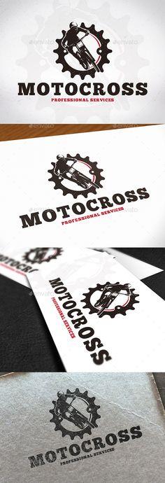 Motocross Gear Creative Logo