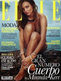 Miranda Kerr para ELLE España, ed. Mayo 2014