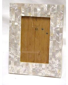 jws checkered mother of pearl 8 inch h 4x6 photo frame httpwwwamazoncomdpb008hf78eqrefcm_sw_r_pi_awdl_vdknsb10j7prn picture frames pinterest - Mother Of Pearl Picture Frame