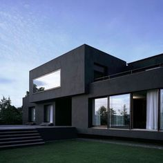 The Black House Exterior Design of Pure Darkness – architecture Residential Architecture, Contemporary Architecture, Interior Architecture, Black Architecture, Modern Contemporary, Installation Architecture, Minimalist Architecture, Black House Exterior, Minimalist Home