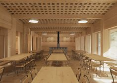 Waldhuette, Domat/Ems by Swiss architect Gion A Caminada