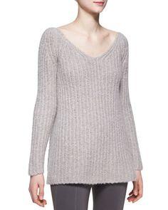 Long-Sleeve V-Neck Sweater by Donna Karan at Bergdorf Goodman.