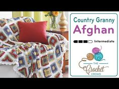 How to Crochet A Blanket: Country Granny Afghan Left Handed Knot Blanket, Afghan Blanket, Crochet Crowd, Crochet Granny, Crochet Afghans, Granny Square Tutorial, Crochet Bedspread, Afghan Patterns, Learn To Crochet