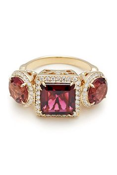 Anna Sheffield Tourmaline Astarte Ring