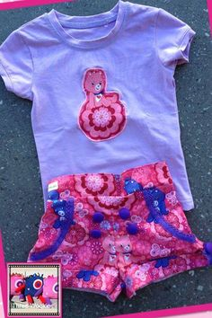 Handmade by Three Wookies This stunning size 1 set will be perfect for your little miss this summer!