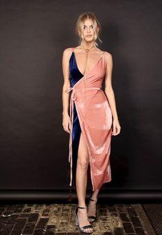 Never Fully Dressed velvet bodycon plunge dress.