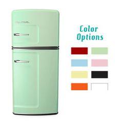 Big Chill refrigerator in cool aqua    Dream Fridge....but maybe add a Ice Maker...hmm