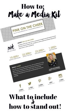How to make a media kit. What to include and how to stand out!