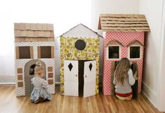 knutselen met de kinderen | Speelhuisjes van cardboard/karton Door elsjefiederelsje2007
