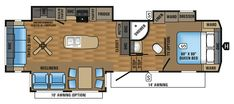 2017 Eagle Fifth Wheels 291RSTS Floorplan