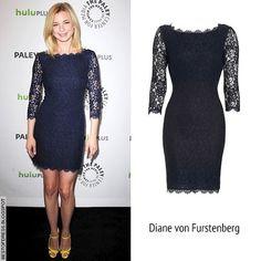 Dress I bought ... Celebrity, Black Dress, DIANE von FURSTENBERG, Emily VanCamp, Revenge