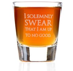 """Promising review: """"Perfect for all us Muggles out there wishing we lived at Hogwarts! Pigwidgeon must have gotten lost delivering my letter. Love this shot glass for my butterbeer!"""" —Mamma HenGet it from Amazon for $9.98."""