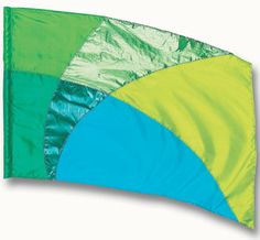 fi101Elg Green, Blue, Yellow Color Guard flag from The Band Hall