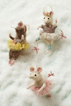 "Anthropologie ornaments. LOVE these, reminds me of ""Angelina Ballerina"""