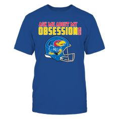 Kansas Jayhawks, My Obsession T-Shirt, -  Exclusive Designs ONLY Available Here - 100% Secure Checkout With VISA - PayPal - Mastercard - AMEX - Discovery - 30 Day Returns Take Your Time - Printed in United States  The Kansas Jayhawks Collection, OFFICIAL MERCHANDISE  Available Products:          Gildan Unisex T-Shirt - $24.95 District Women's Premium T-Shirt - $29.95 District Men's Premium T-Shirt - $27.95 Gildan Women's T-Shirt - $26.95 Gildan Unisex Pullover Hoodie - $44.95 Next Level…