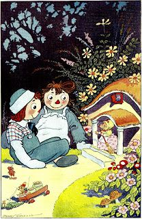 Illustration Station: Johnny Gruelle from Raggedy Ann in the Deep Deep Woods, 1930