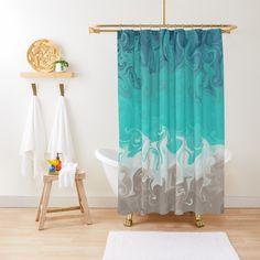 Swirling Ocean Waves Shower Curtain designed by Zurick Designs
