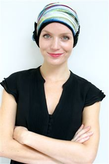 dressy turban for women's hair loss - it would look good in the office or equally chic on a night out