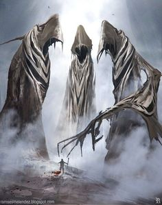 Demons, fallen angels and ghostly beings in the fantasy illustrations of Rameses Melendez - fantasy art - reapers
