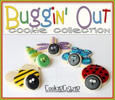 Buggin' Out Cookie Collection (2-D Bug Cookies)