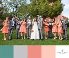Isn't this mix of coral & teal just perfect for a spring wedding!? Such an exciting & charming look for your bridal party :)