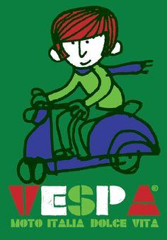 Vespa - Moto Italia-Dolce Vita - Sean Sims