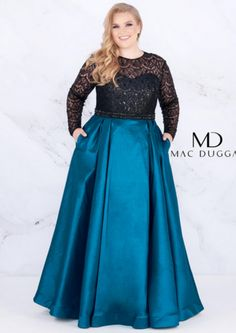 Plus Size Formal Dresses and Plus Size Party Dresses are great for your next special Occassion at cheap affordable prices The Dress Outlet Plus Prom Dresses, Plus Size Formal Dresses, Evening Dresses Plus Size, Black Prom Dresses, Illusion Neckline Dress, Wedding Dress With Pockets, Dress Pockets, Looks Plus Size, Ball Gowns Prom