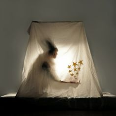 Love this idea of using a sheet to create an ethereal silhouette.