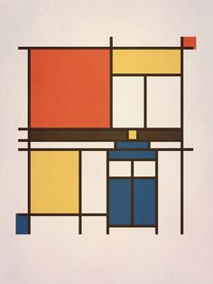Mondrian Who Art Print--ARE YOU KIDDING ME WHY DID I NOT THINK OF THISSSSSS
