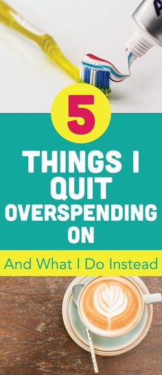 Here are five easy ways to gain control of your finances and quit overspending already! I know when I did this I was able to save a ton of money. Save Money | Control Your Finances | Teal Notes | Spend Less Tips and Tricks | Overspending |